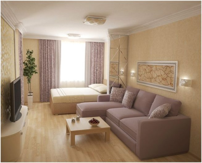 Зонирование в однокомнатной квартире