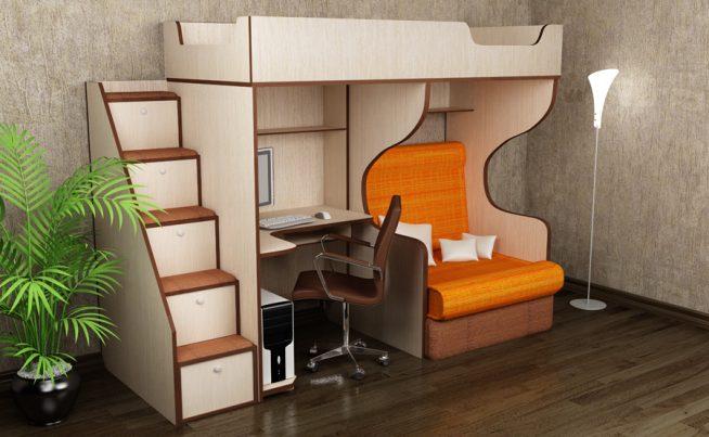 Кровать-чердак для ребёнка