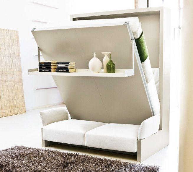 Кровать-трансформер для небольшой мансардной квартиры