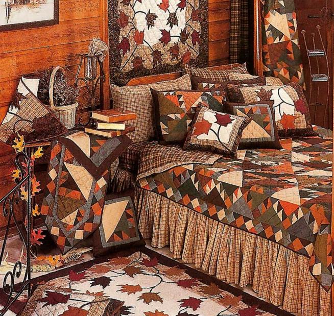 Лоскутное шитьё в дачной спальне
