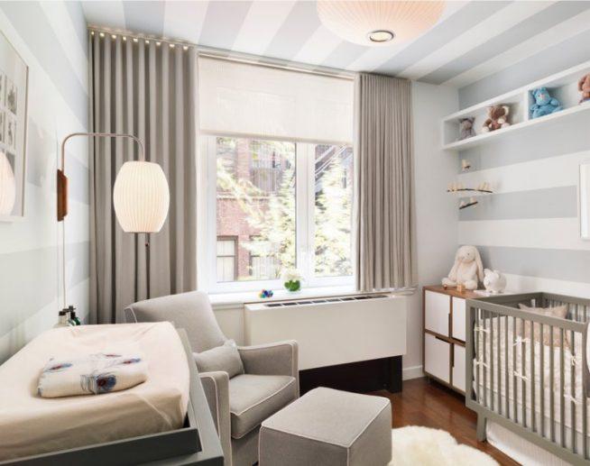 Дизайн небольшой детской комнаты в пастельных тонах