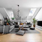 Дизайн однокомнатной квартиры в мансарде