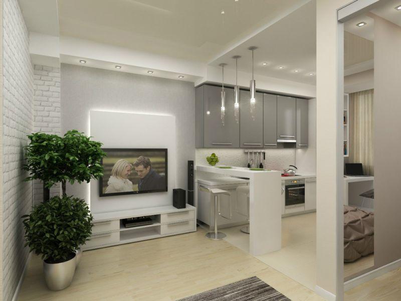 Идеи дизайна однокомнатной квартиры 40 кв. м: как сделать уютно и удобно