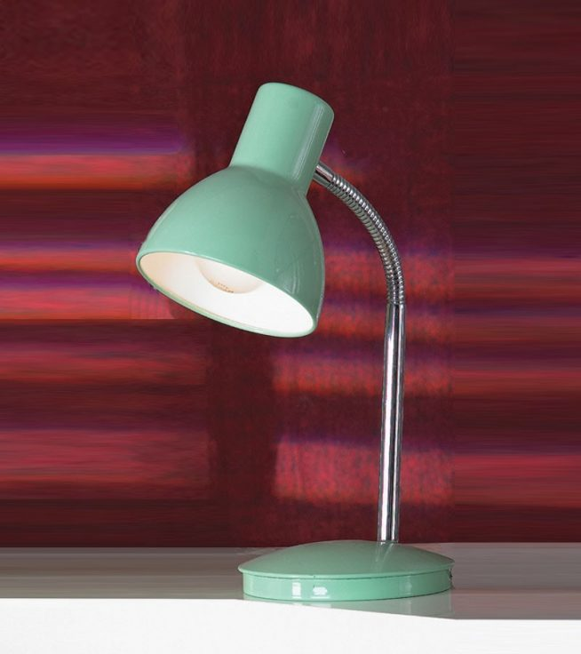 Простая модель настольной лампы с гибкой ножкой