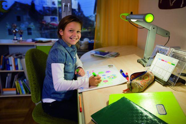 Лампа для школьника необычного дизайна