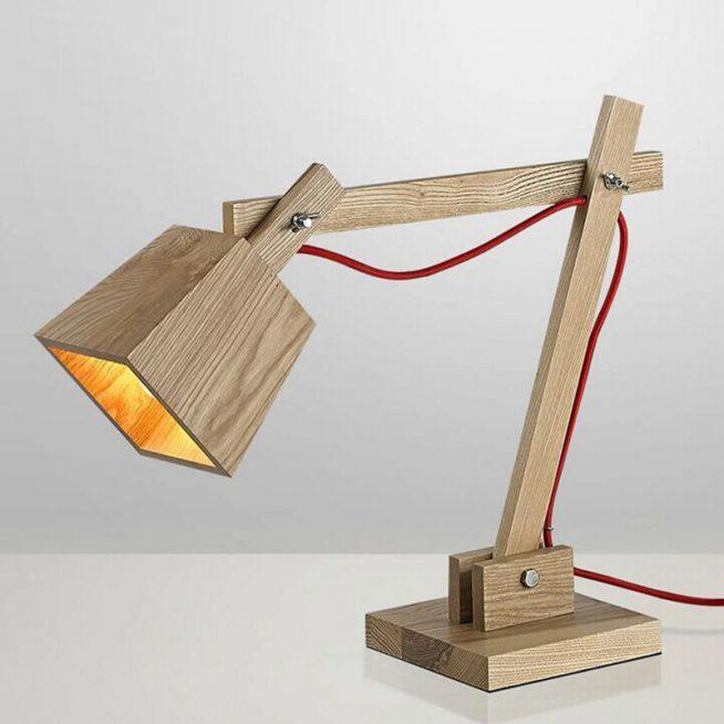 Деревянная лампа в японском стиле