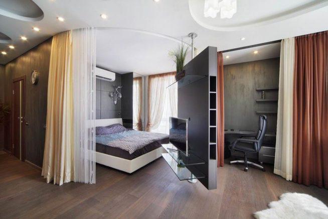 Оригинальный дизайн встроенной спальни