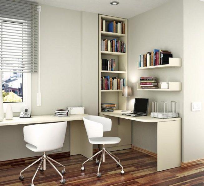 Встроенные столы для двух подростков