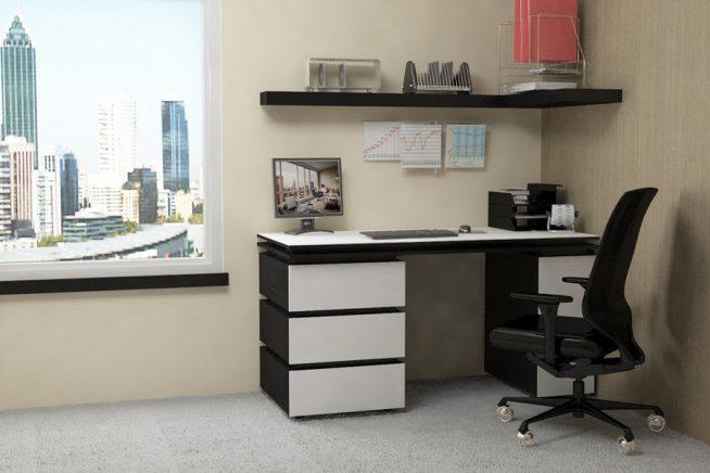 Классический чёрно-белый стол