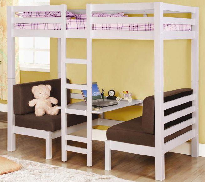 Кроватка для девочки с рабочим столом