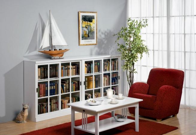 Маленький, но удобный книжный шкаф