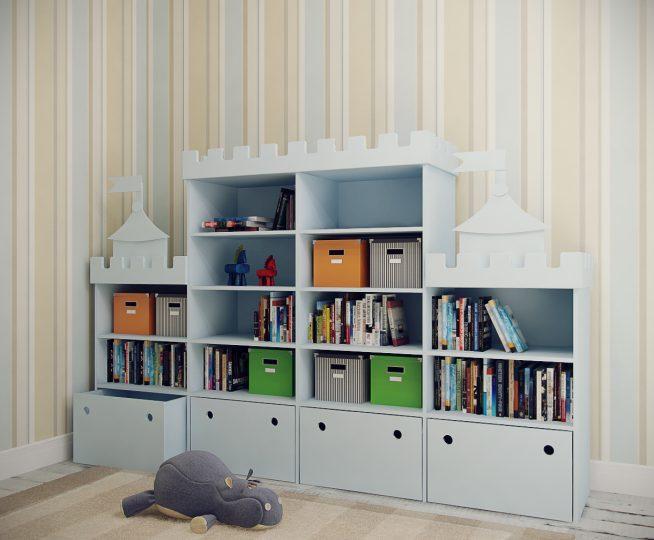 Шкаф для малыша с ящиками для игрушек