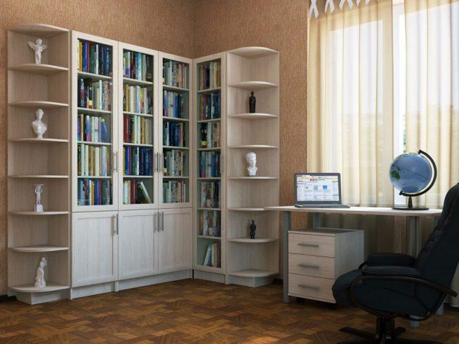 Угловой шкаф модульной конструкции в комнате подростка