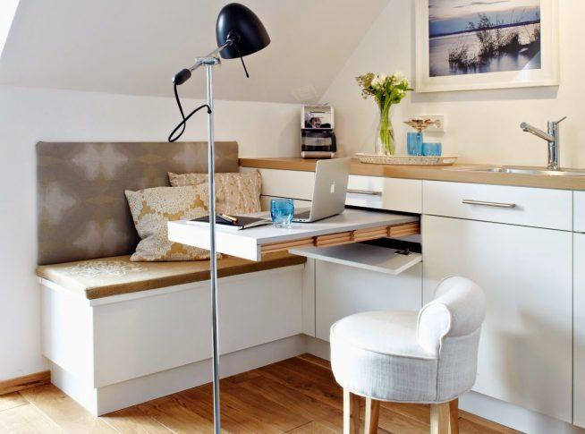 Кухонный гарнитур с выдвижной столешницей