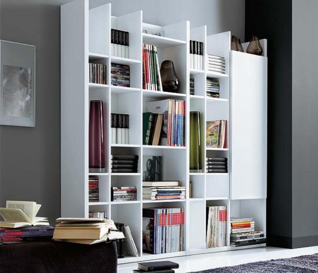 Эффектный дизайн книжного шкафа