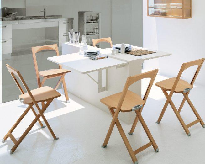Красивая и практичная складная кухонная мебель