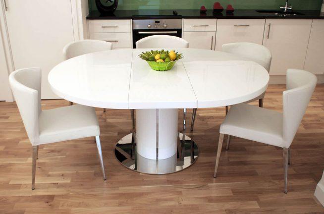 Большой круглый складной стол