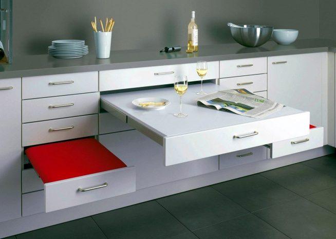 Комплект выдвижной кухонной мебели