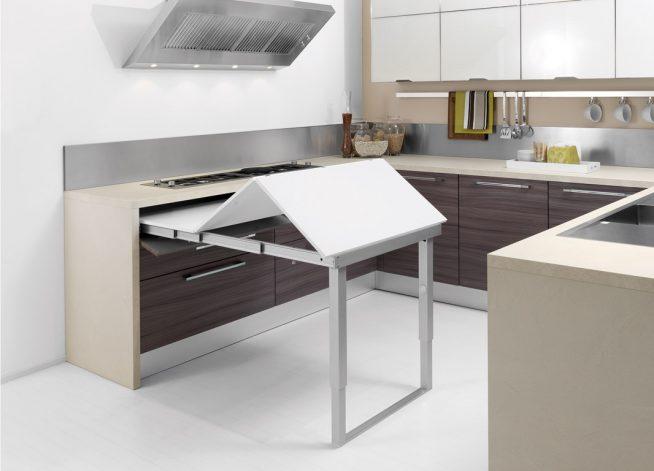 Выдвижной складывающийся кухонный стол