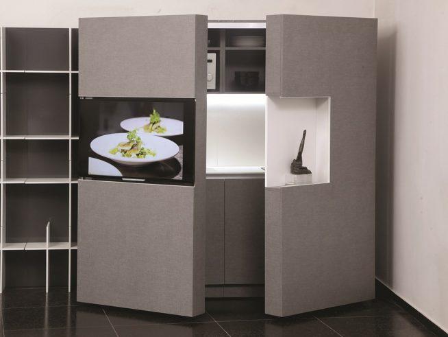 Кухня-шкаф для маленькой студии
