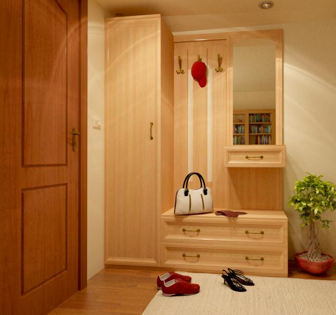 Компактный мебельный комплект с вешалкой