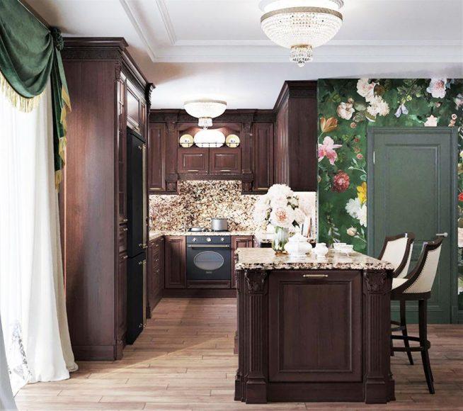 Кухня в доме Ларисы Гузеевой