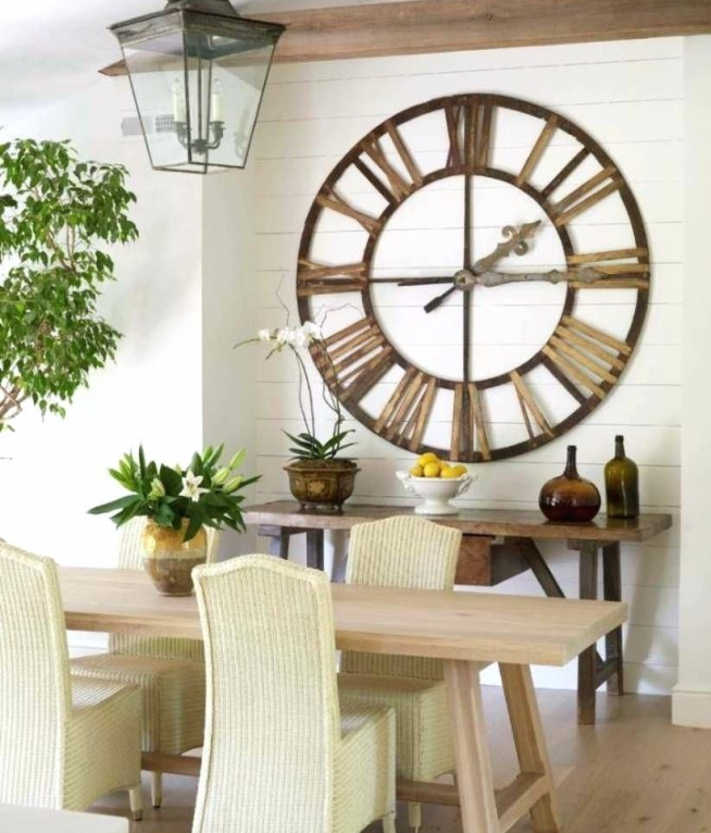 Деревянные кухонные часы