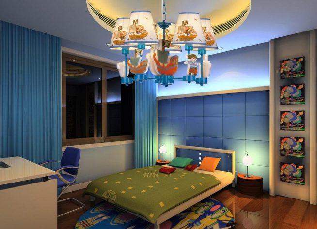 Люстра в морском стиле в комнате мальчика