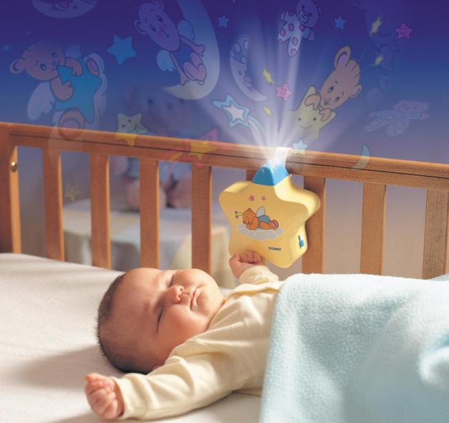 Ночник на детской кроватке