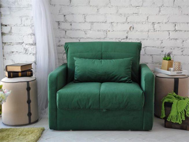 Стильное кресло-кровать в интерьере стиля лофт
