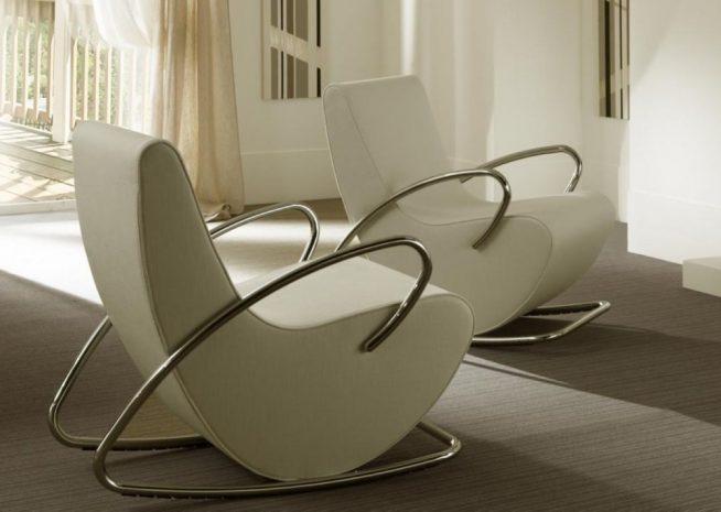 Кресла-качалки в стиле хай-тек