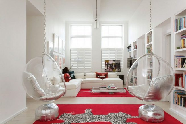 Дизайнерские пластиковые подвесные кресла