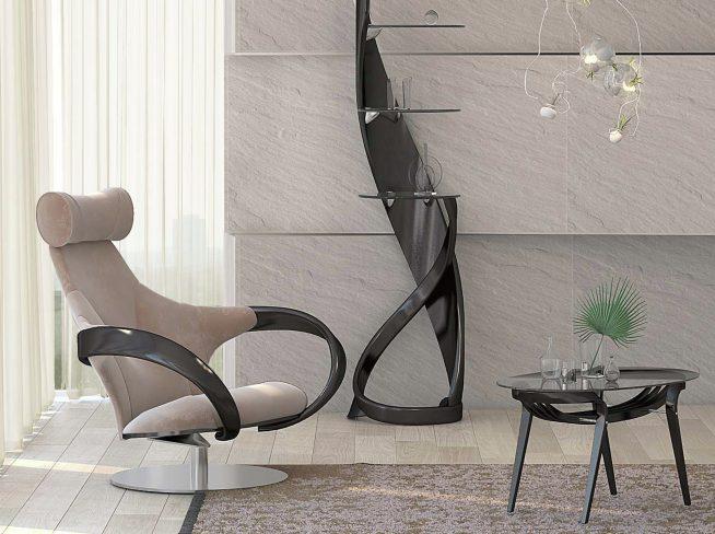 Эффектное современное кресло