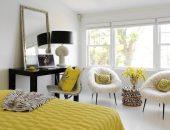 Светлая комната с жёлтыми акцентами