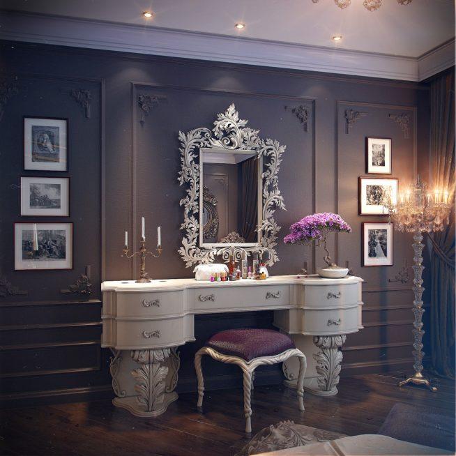 Шикарное будуарное зеркало в классическом стиле