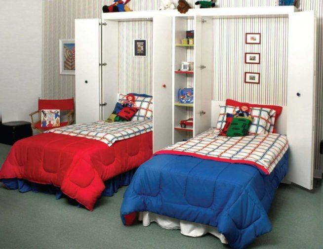 Откидные кровати для двух детей