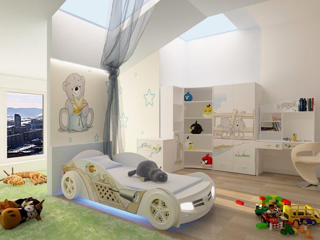 Кровать-автомобиль для мальчика