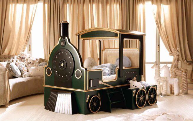 Детская кроватка для мальчика авторской работы