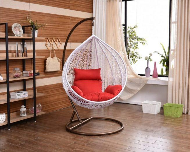Лёгкое подвесное кресло из нейлоновых нитей