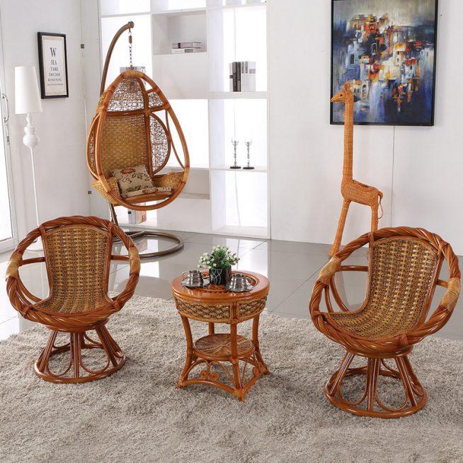 Комплект плетёной мебели для балкона