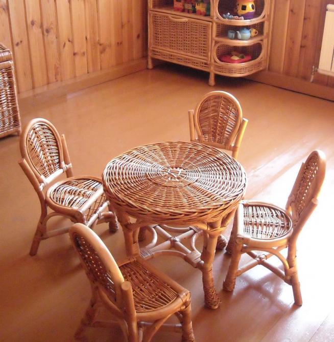Мебель из лозы для детской комнаты