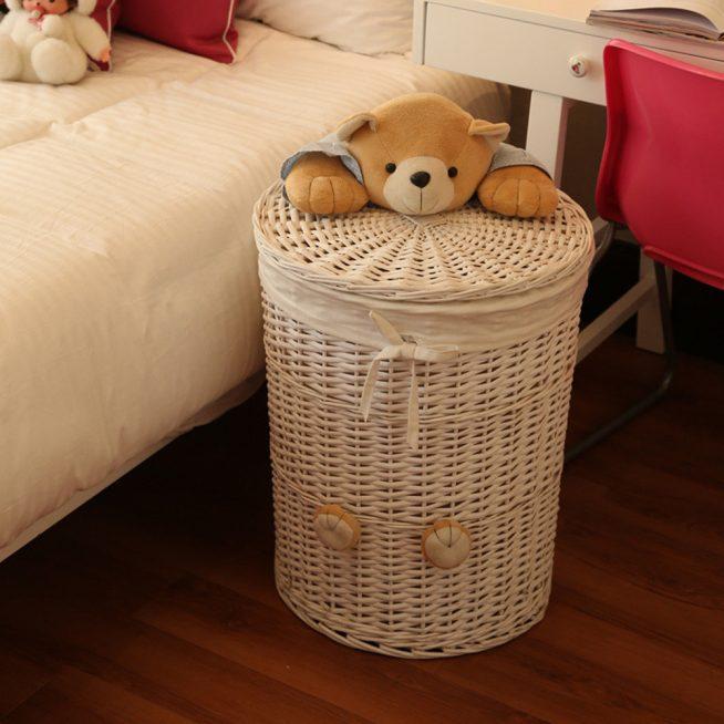 Плетёный короб для игрушек