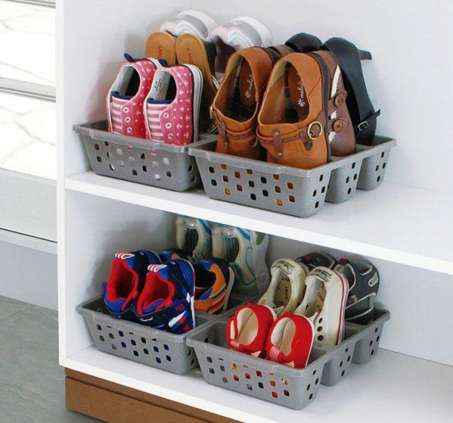 Открытая полка для хранения обуви