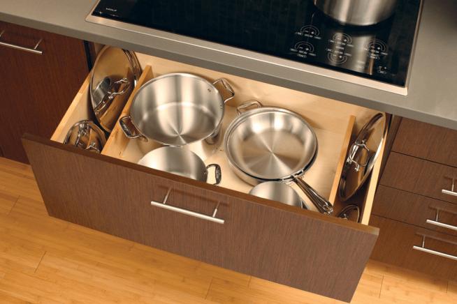 Хранение на кухне кастрюль