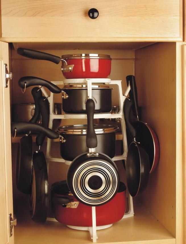 Подставка с крючками для посуды
