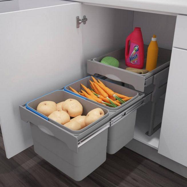 Хранение овощей в контейнере