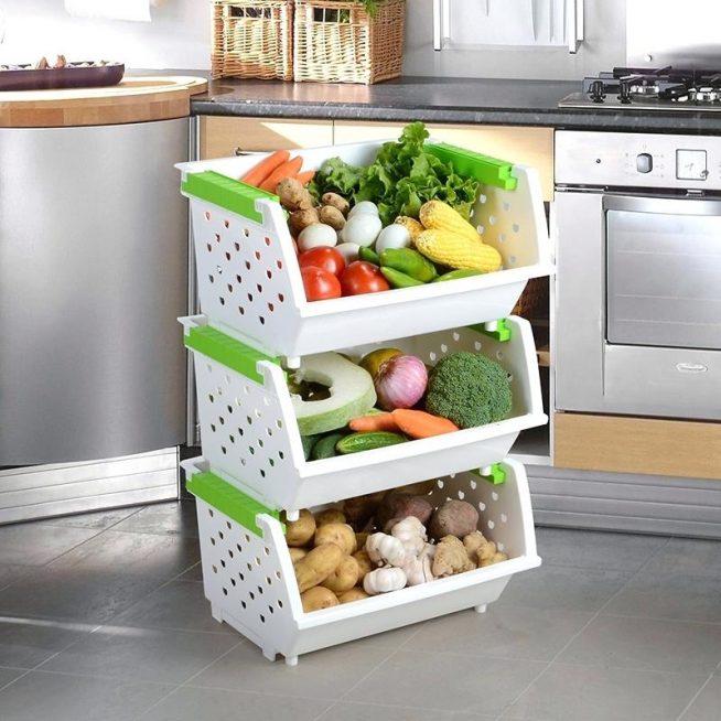 Хранение овощей в специальных контейнерах