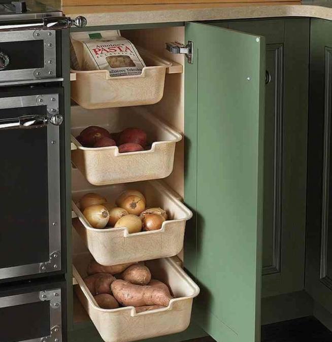 Хранение овощей в ящиках