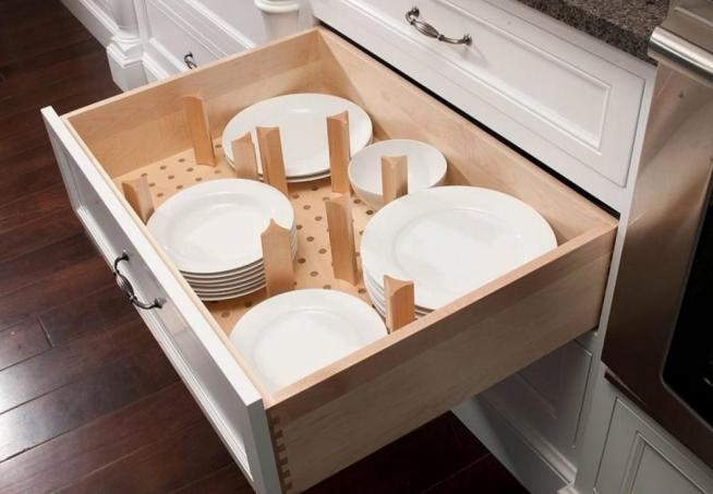 Хранение тарелок