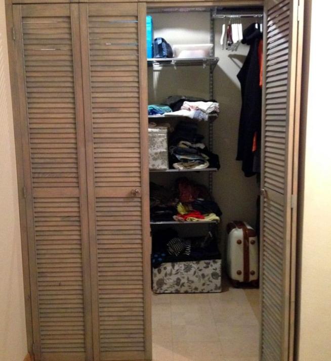 Складная дверь в кладовку